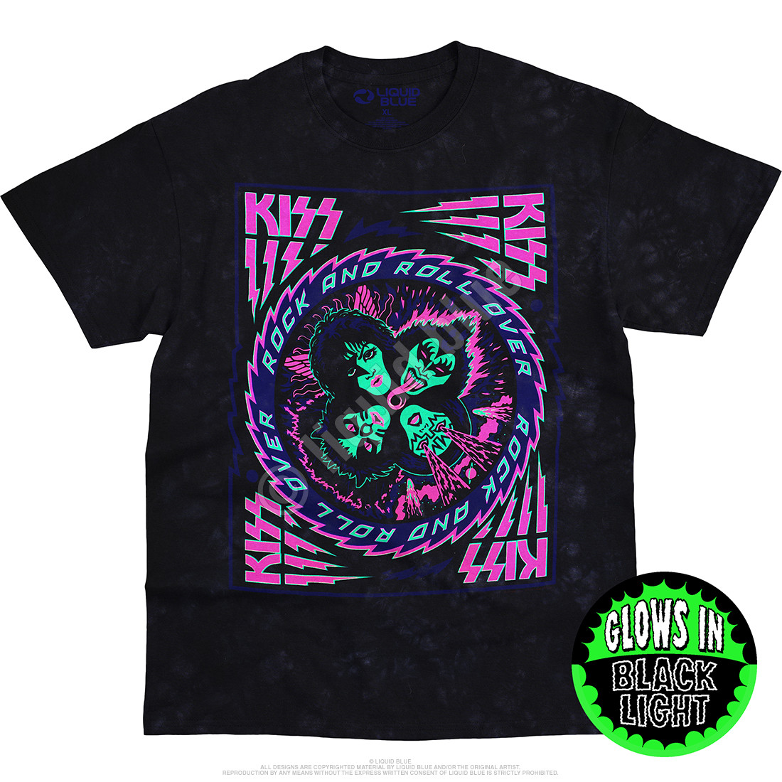 KISS Blacklight Tie-Dye T-Shirt