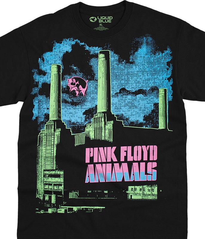 Animals Blacklight Black T-Shirt