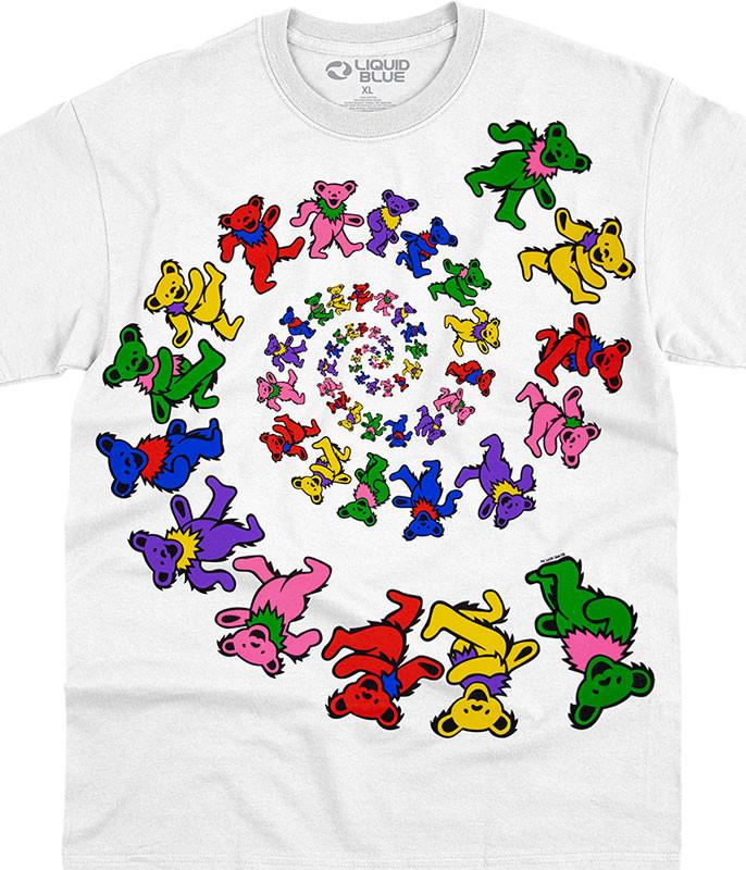 Spiral Bears White T-Shirt