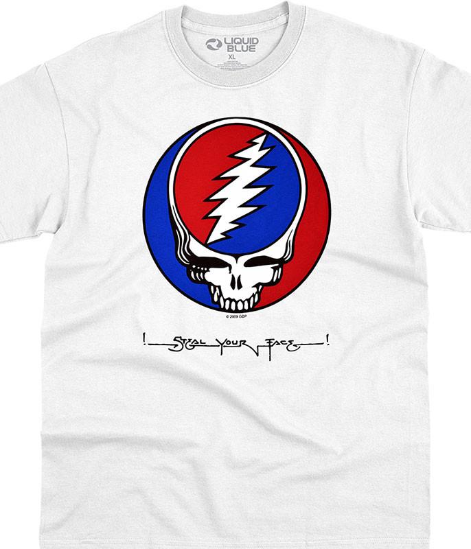 Grateful Dead SYF White T-Shirt Tee Liquid Blue