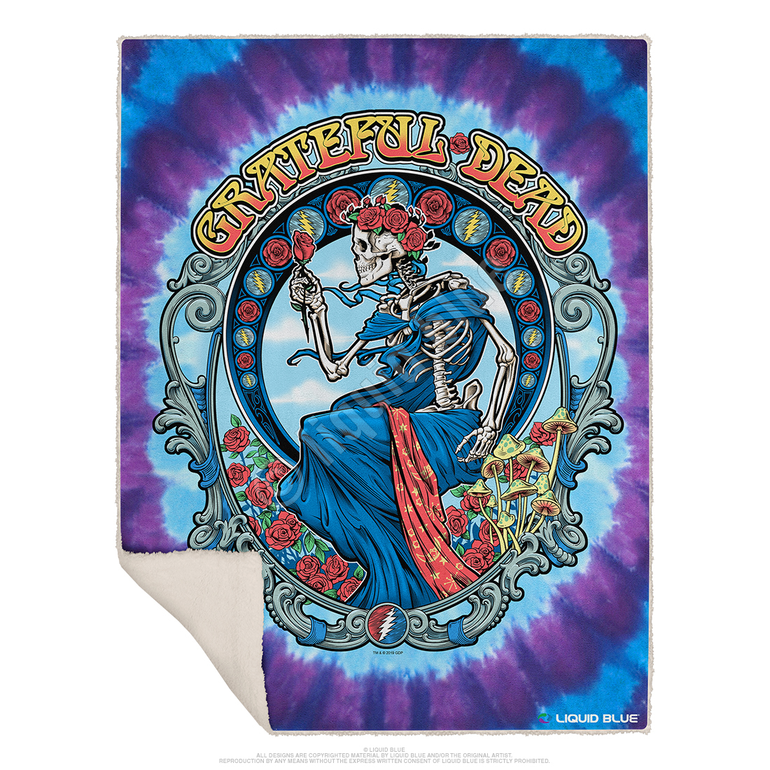 Vintage Bertha Fleece Throw Blanket