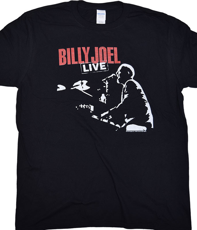 Billy Joel 81 Tour Black T-Shirt Tee
