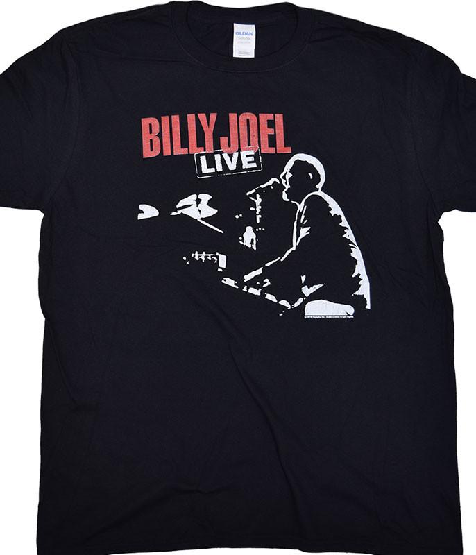 Billy Joel 81 Tour Black T-Shirt Tee