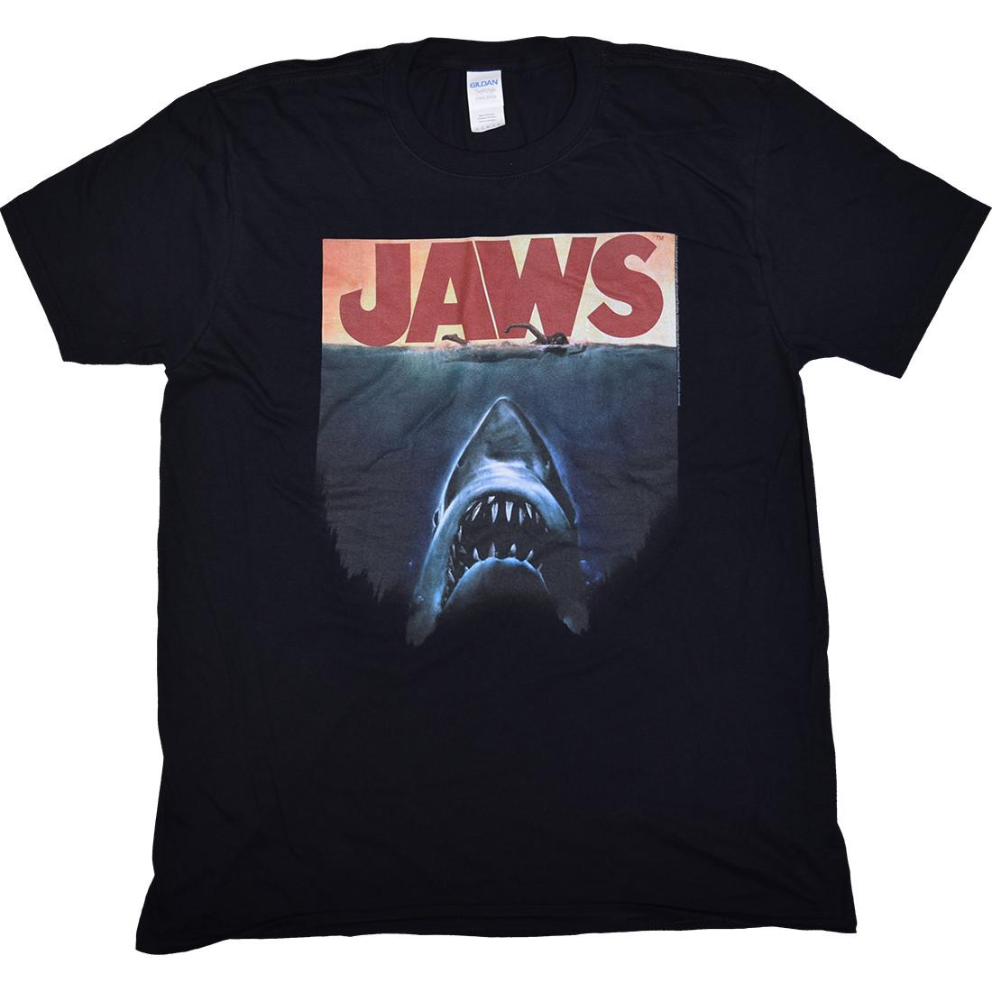 Jaws Poster Again Black T-Shirt