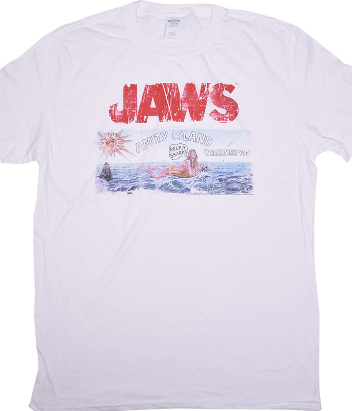 Jaws Island White T-Shirt Tee