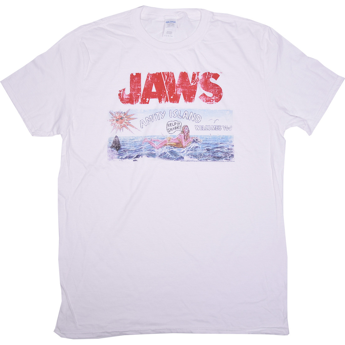 Jaws Island White T-Shirt
