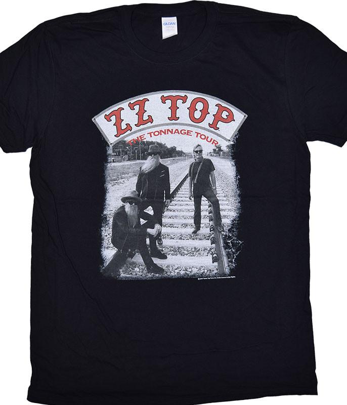 ZZ Top Tonnage Tour Black T-Shirt