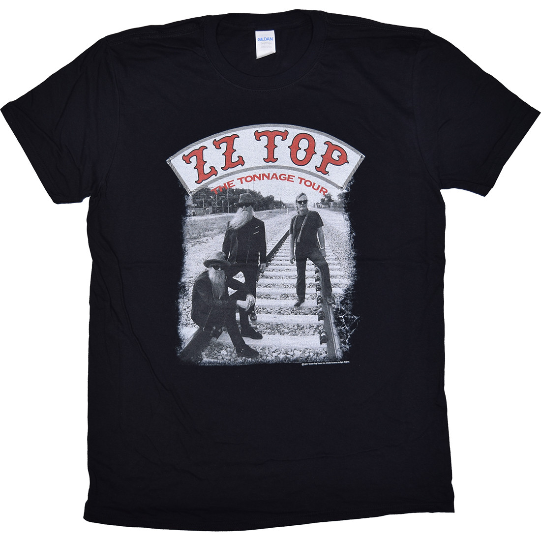 ZZ Top Tonnage Tour Black T-Shirt