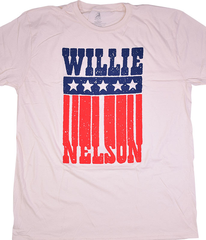 Willie Nelson American Name Tan T-Shirt Tee