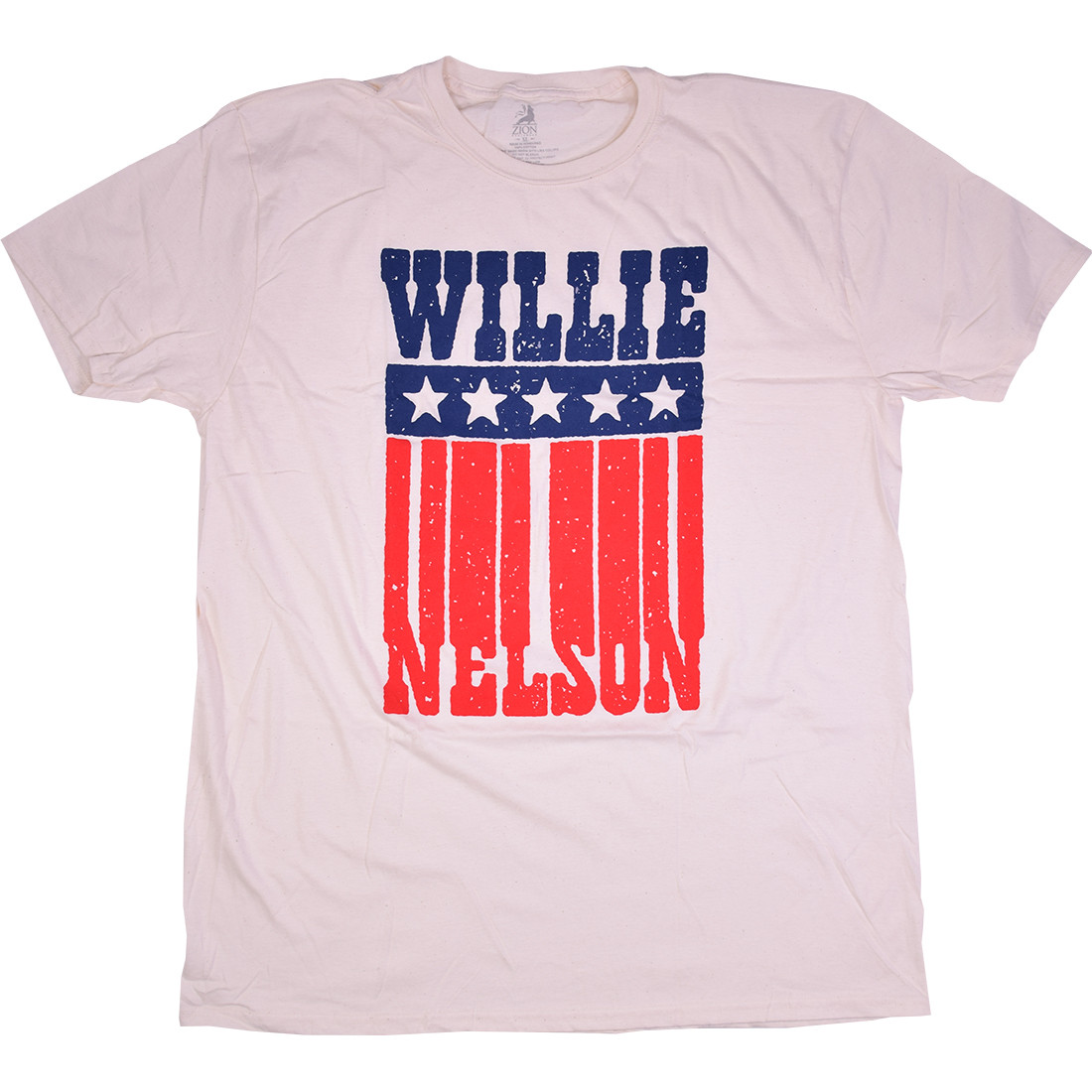 Willie Nelson American Name Tan T-Shirt