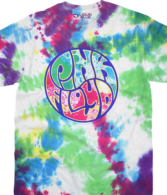 Pink Floyd Liquid Light Show Tie-Dye T-Shirt Tee Liquid Blue