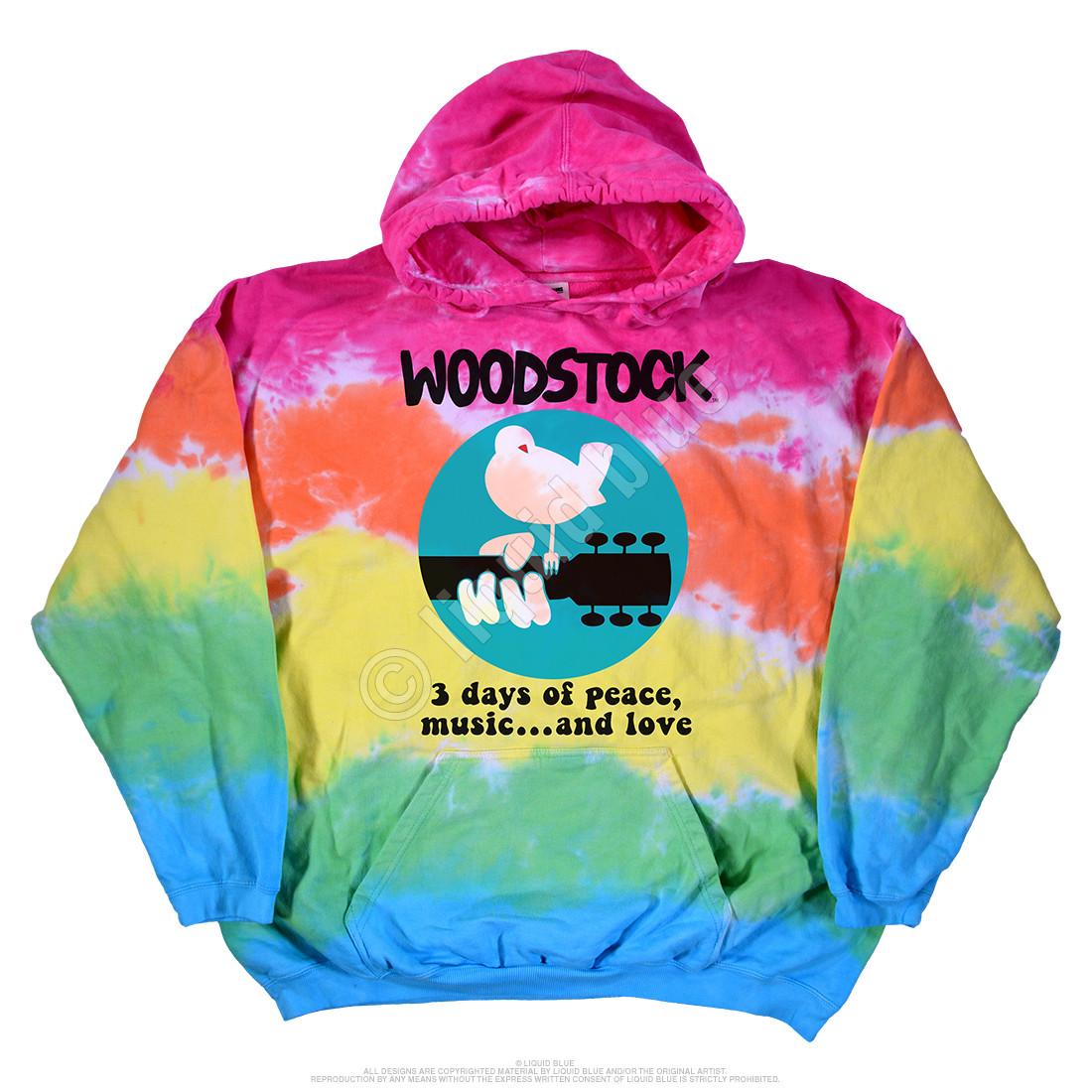 Woodstock Banded Tie-Dye Hoodie