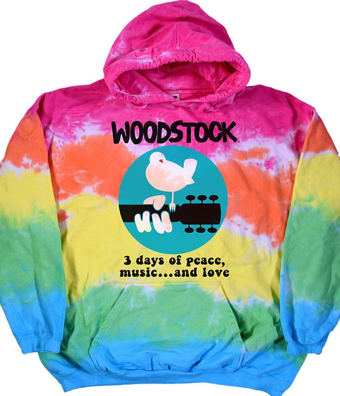 Woodstock Banded Tie-Dye Hoodie Liquid Blue