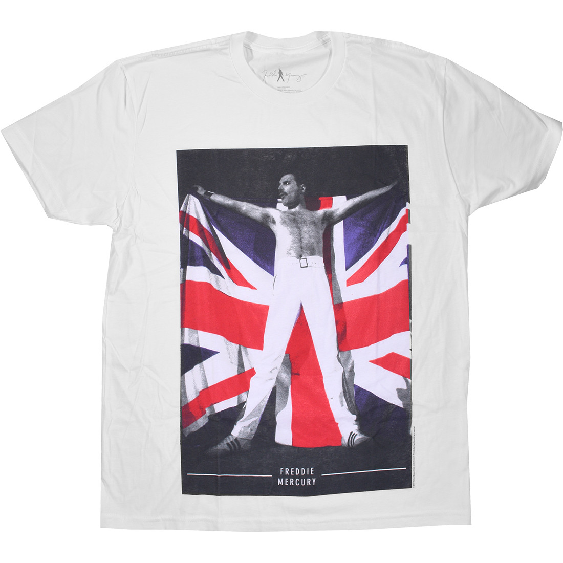 Queen Freddie Flag White T-Shirt