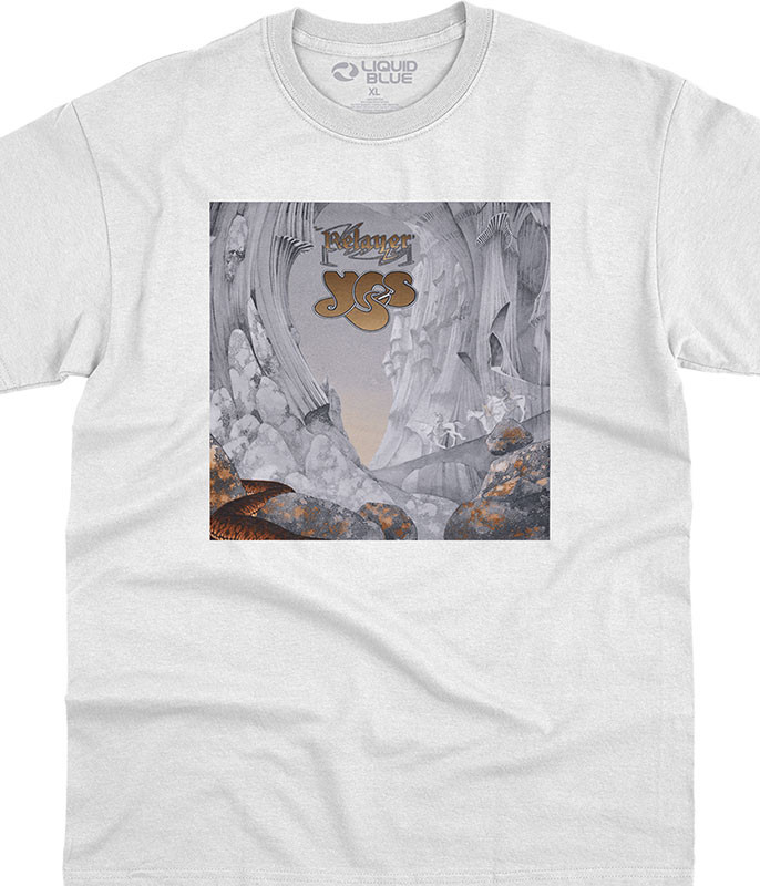 Relayer White T-Shirt Tee Liquid Blue