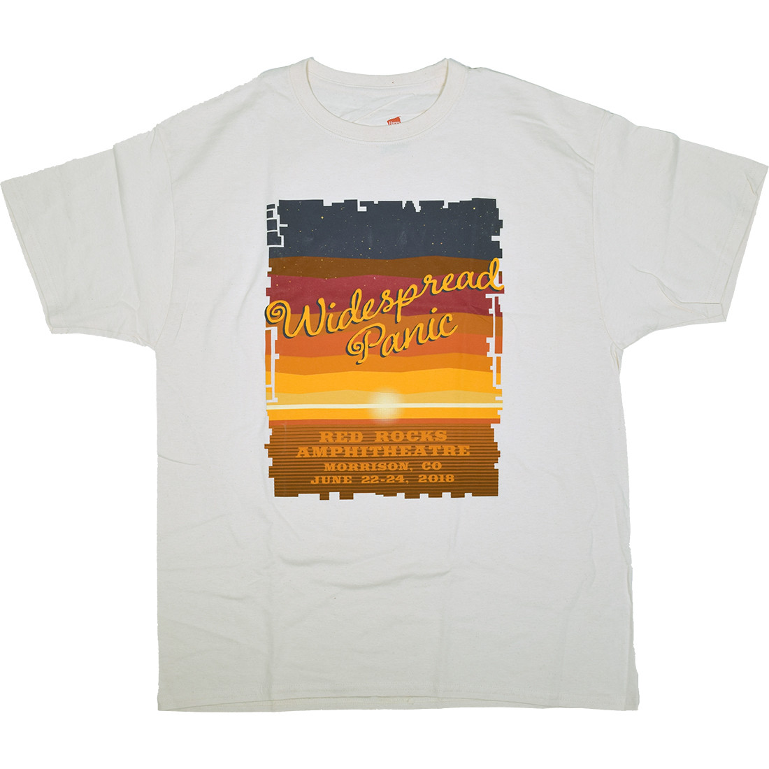Widespread Panic Red Rocks White T-Shirt