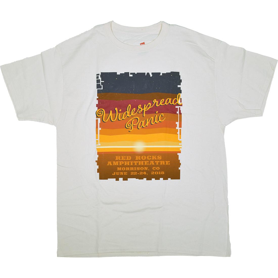 Widespread Panic Red Rocks White T-Shirt