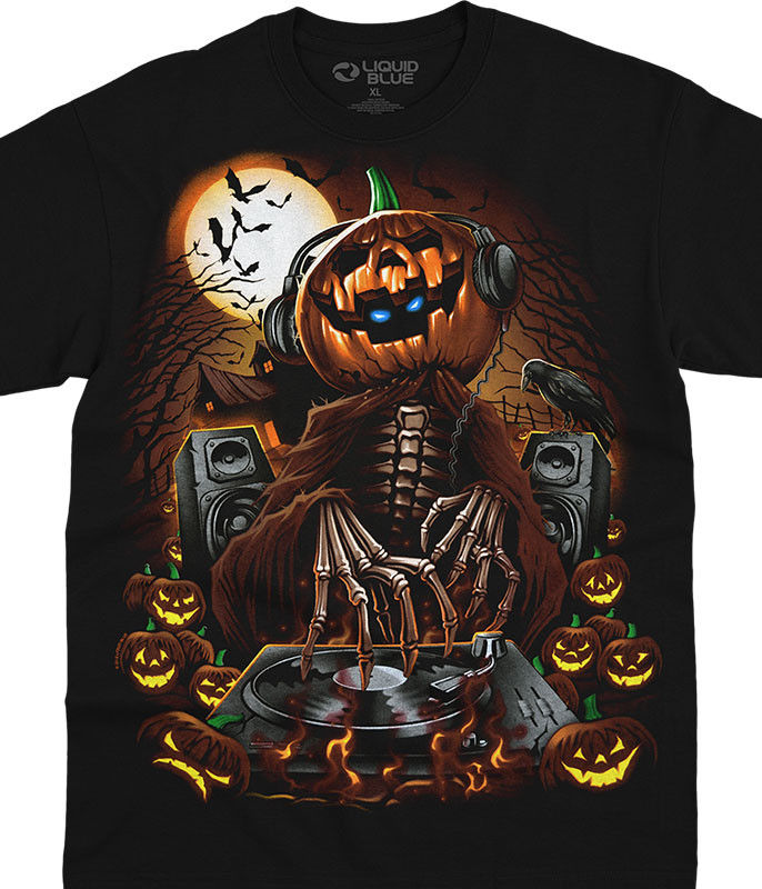 Halloween Mix Master Jack Black T-Shirt Tee Liquid Blue