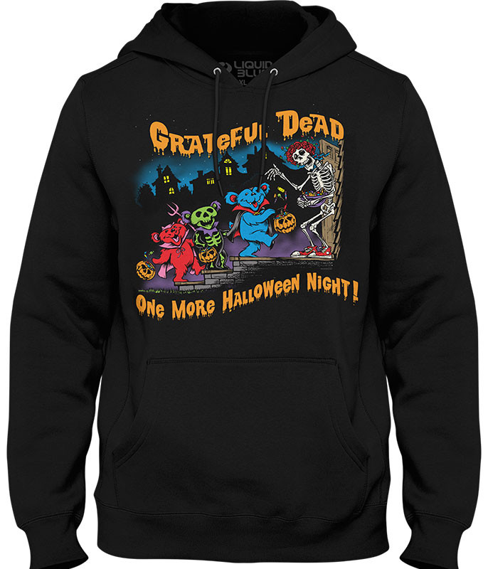 Grateful Dead Halloween Night Black Hoodie Liquid Blue