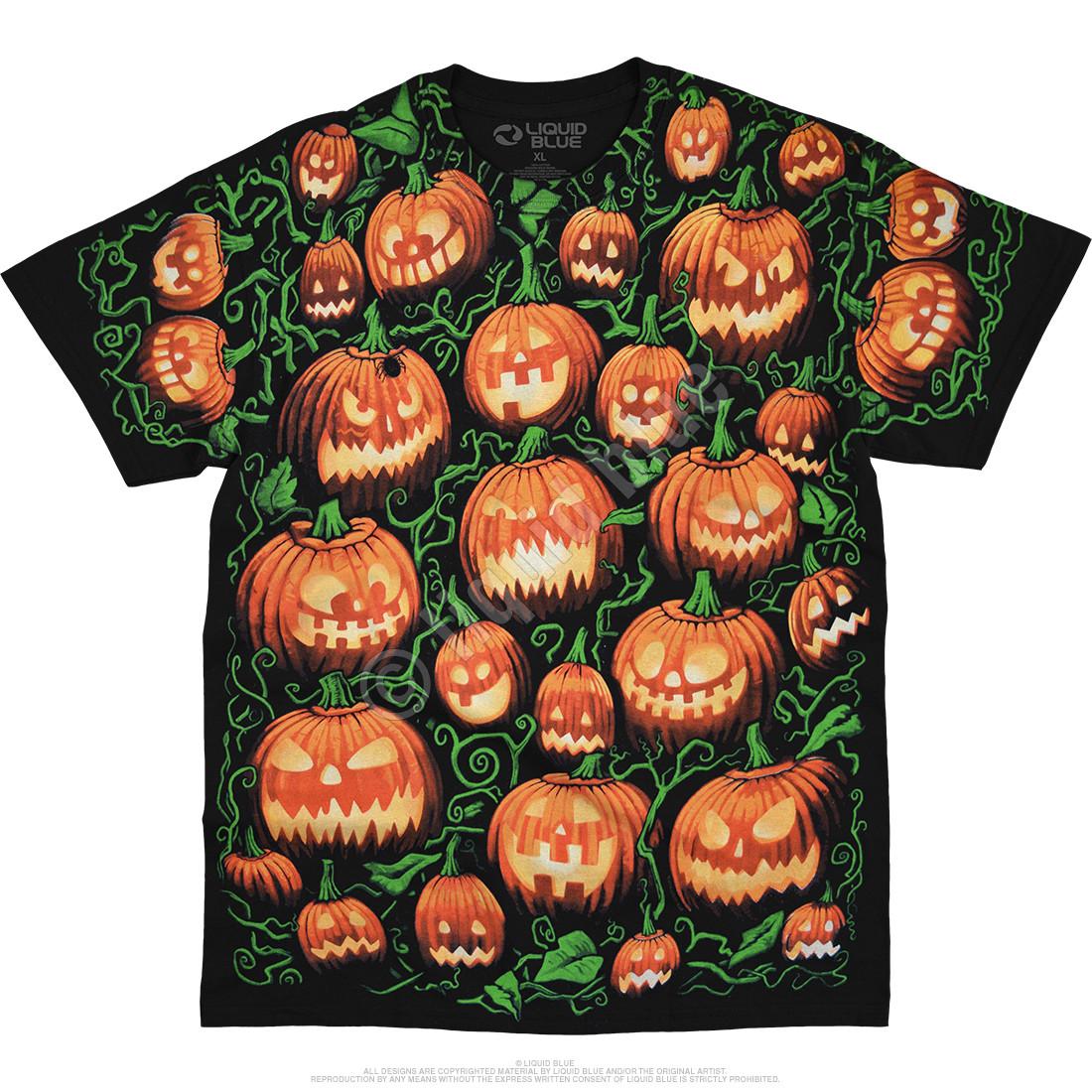 Pumpkin Pile Black T-Shirt