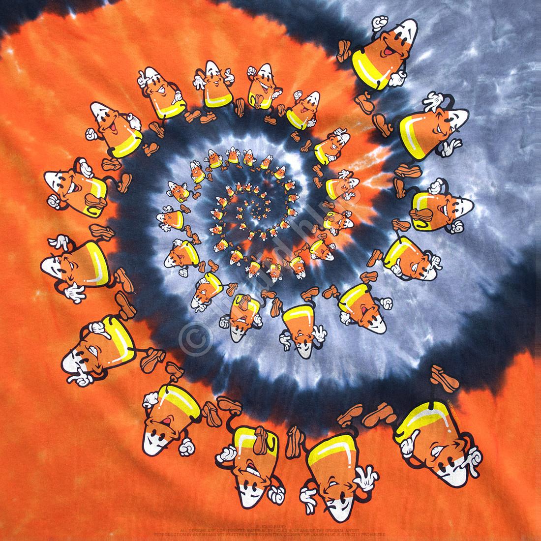 Candy Corn Spiral Tie-Dye T-Shirt