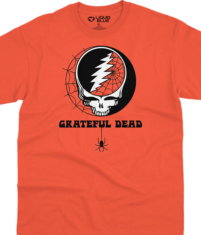 Grateful Dead Halloween SYF Orange T-Shirt Tee Liquid Blue