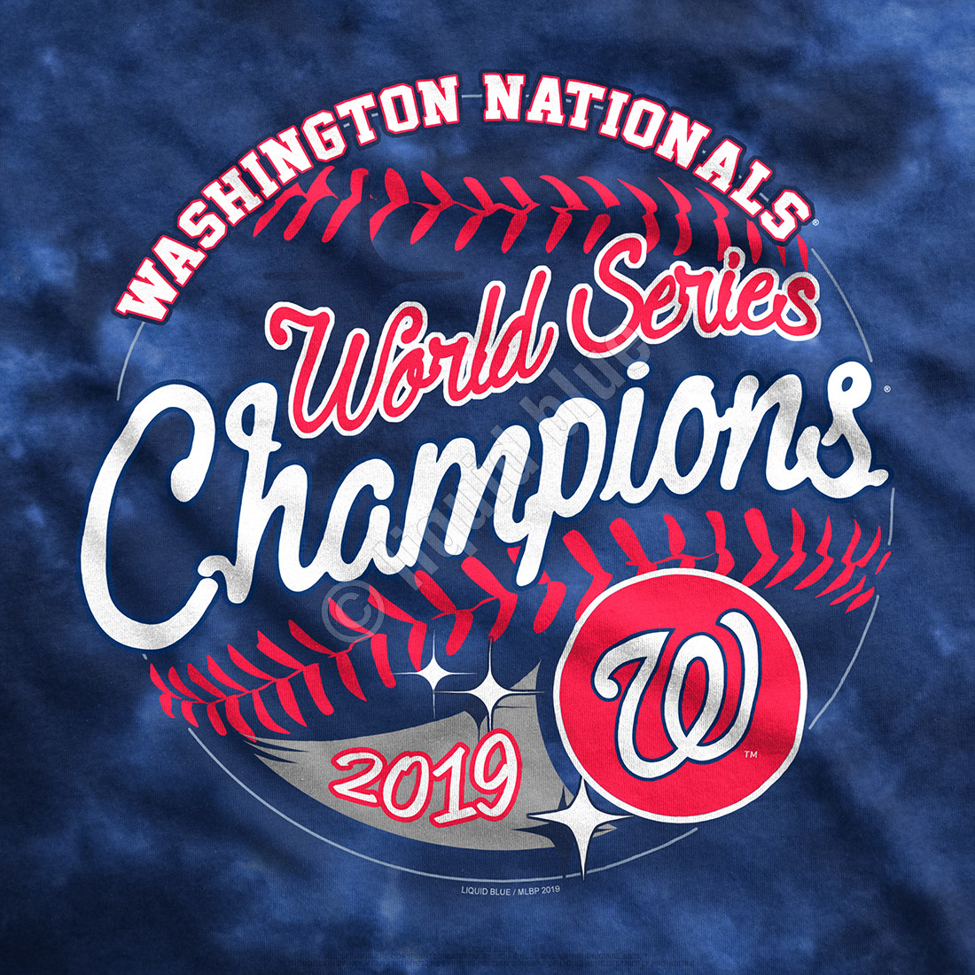 Washington Nationals World Series Champions Womens Tie-Dye T-Shirt