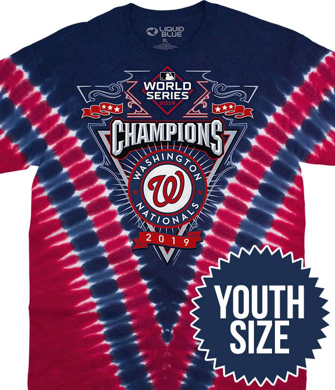 WASHINGTON NATIONALS WORLD SERIES CHAMPIONS YOUTH TIE-DYE T-SHIRT