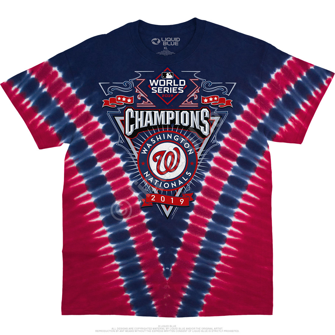 Washington Nationals World Series Champions V Tie-Dye T-Shirt