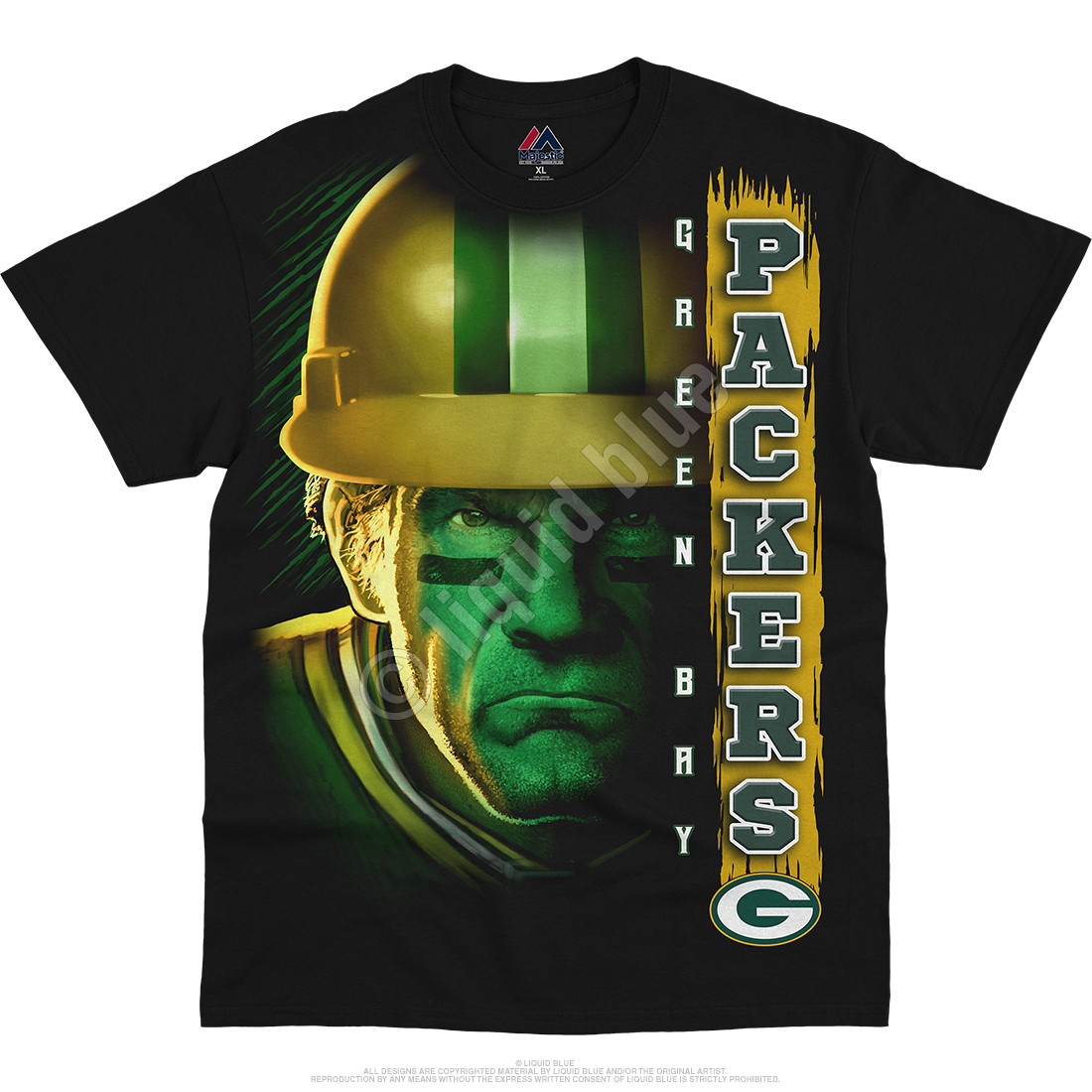 Green Bay Packers Franchise Black T-Shirt