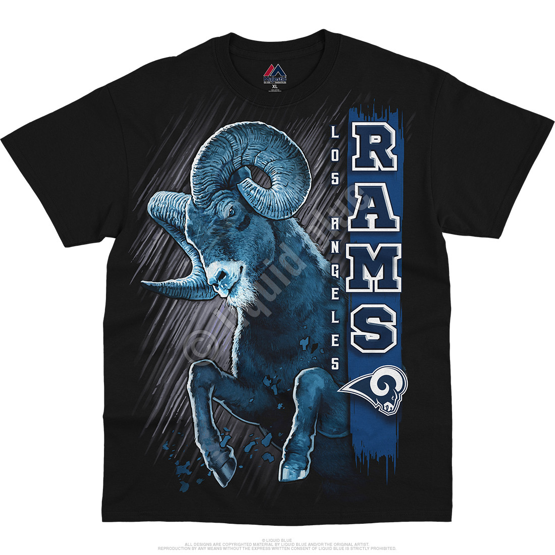 Los Angeles Rams Franchise Black T-Shirt