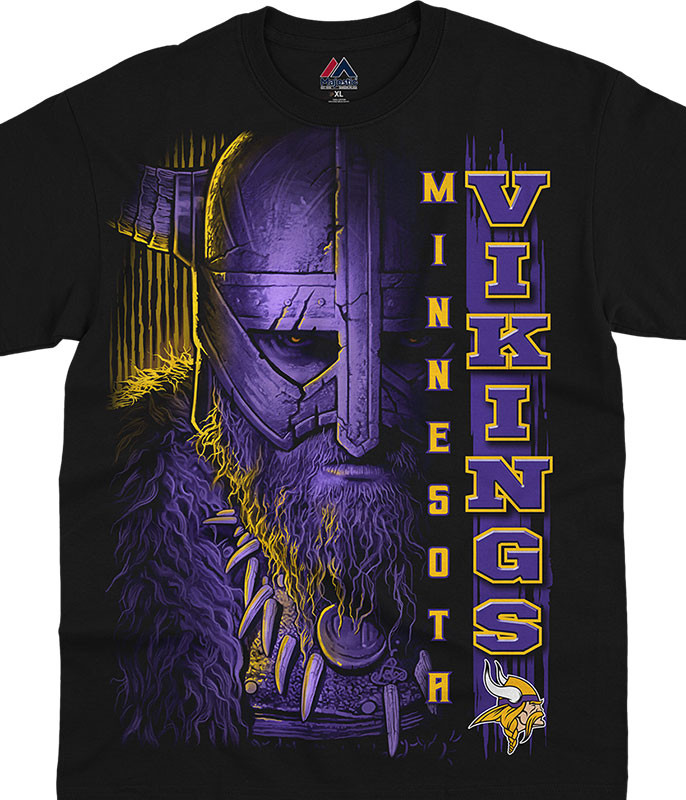 Minnesota Vikings Franchise Black T-Shirt