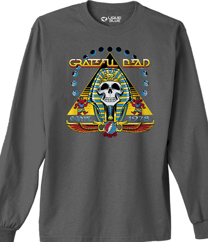 Grateful Dead Egypt 78 Grey Long Sleeve T-Shirt Tee