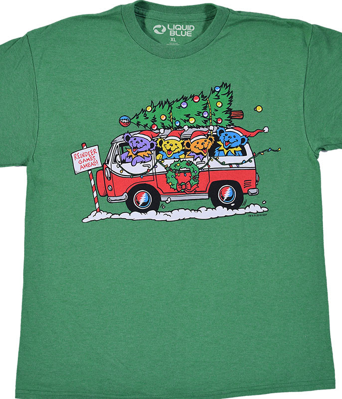 Steal Your Christmas Tree Youth Green T-Shirt