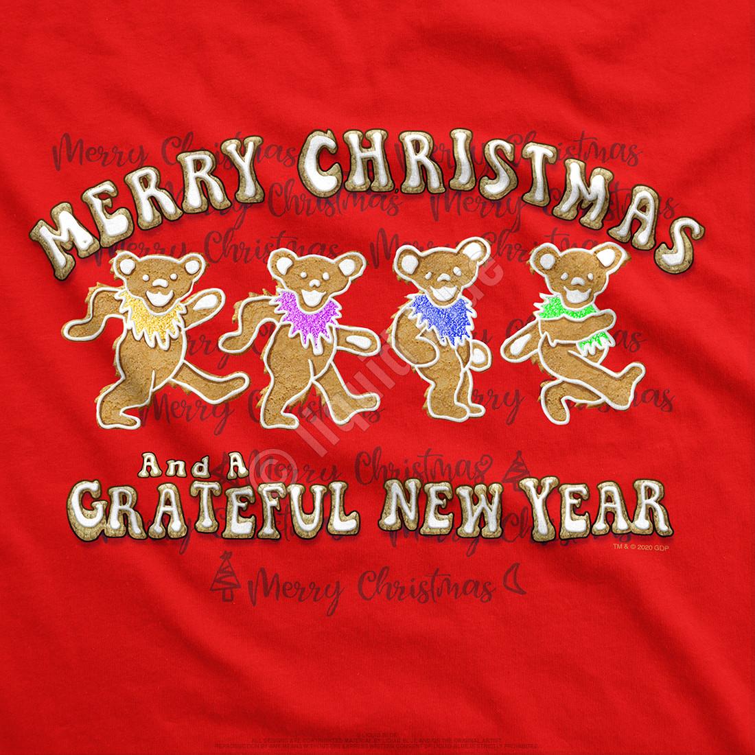 Dancin' Gingerbread Bears Youth Red T-Shirt