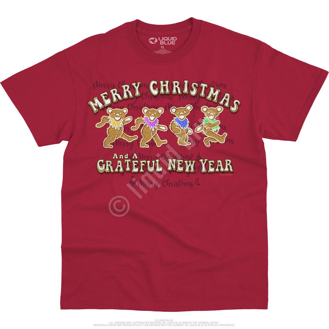 Dancin' Gingerbread Bears Red T-Shirt