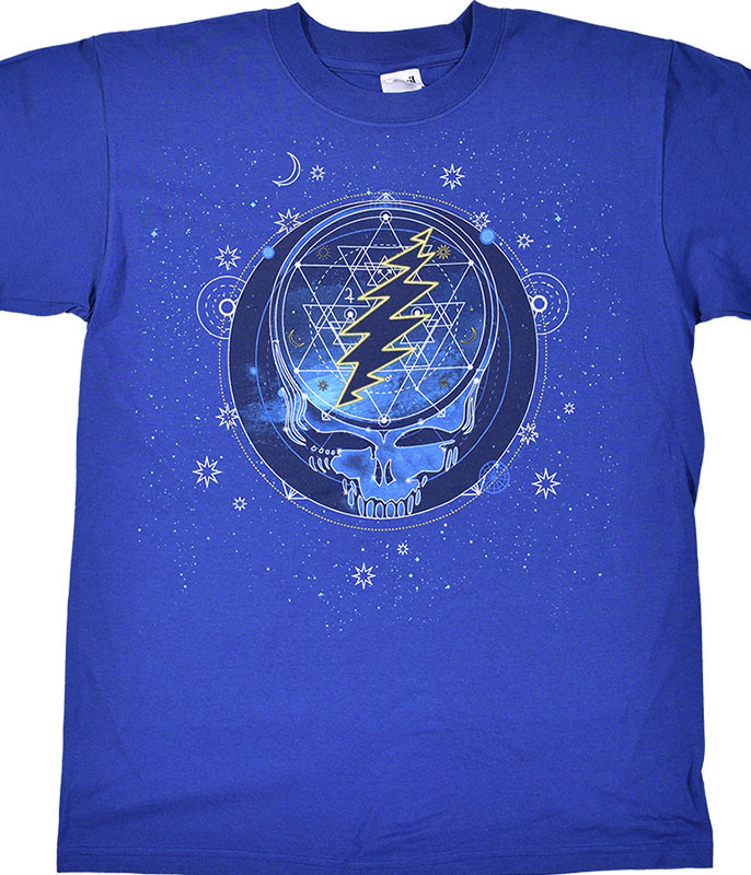 Grateful Dead GD Mystical Stealie Blue T-Shirt Tee Liquid Blue