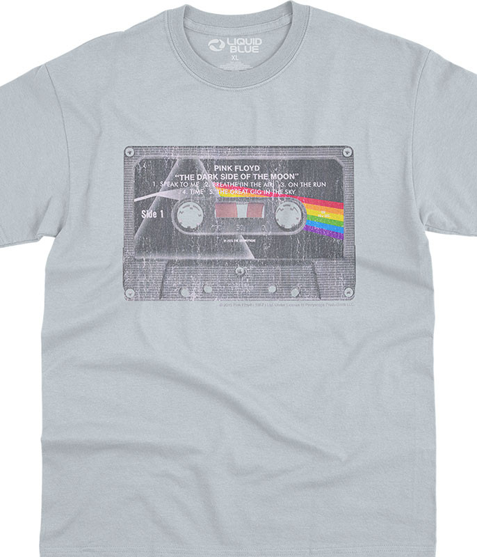 Pink Floyd Side To Side Grey Athletic T-Shirt Tee Liquid Blue