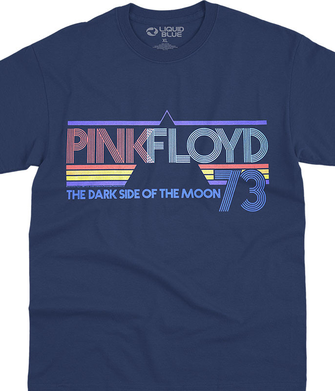 Pink Floyd Sun Is The Same Navy T-Shirt Tee Liquid Blue