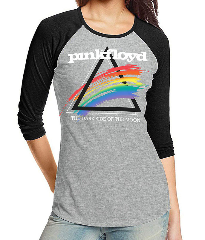 Spectrum Splash Womens Raglan Heather Grey T-Shirt