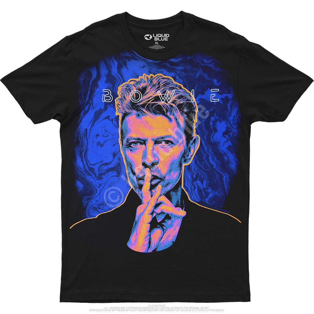 SHHH! Bowie Black Athletic T-Shirt