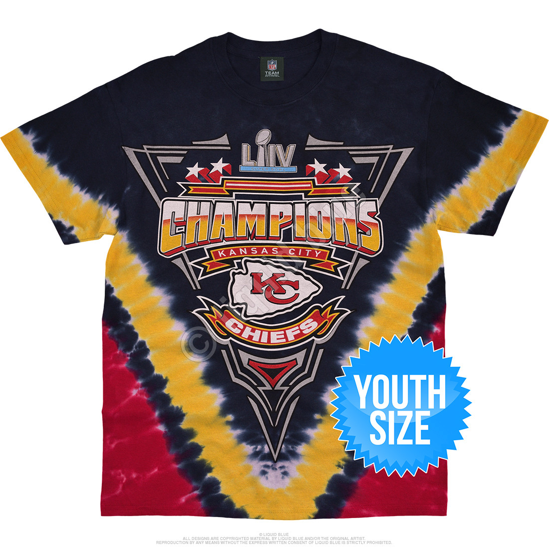 Kansas City Chiefs Super Bowl LIV Champions Youth Tie-Dye T-Shirt