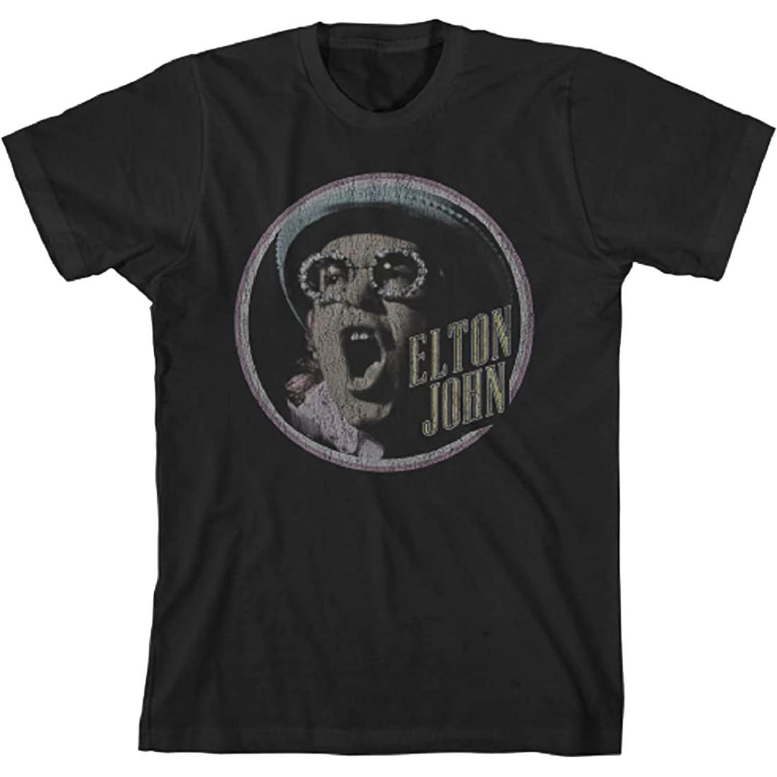 Elton John Homage 2 Black T-Shirt