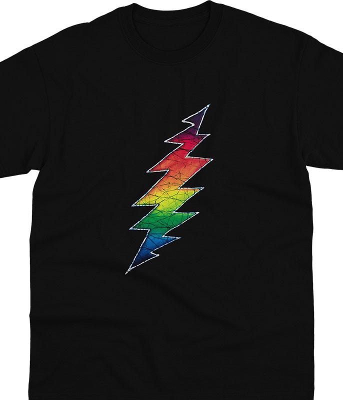 Grateful Dead GD Lightning Bolt Black T-Shirt Tee