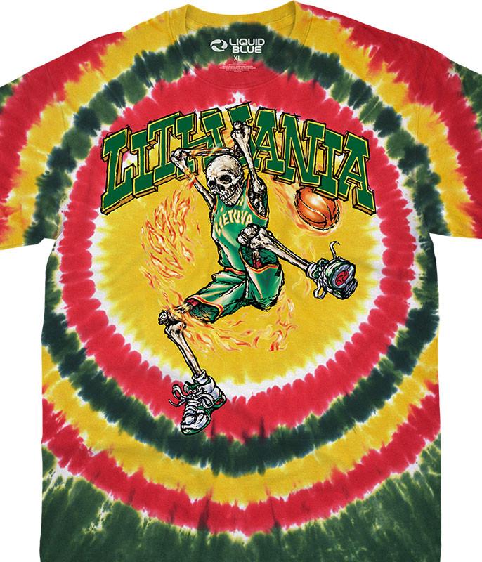 Lithuania Basketball Tie-Dye T-Shirt