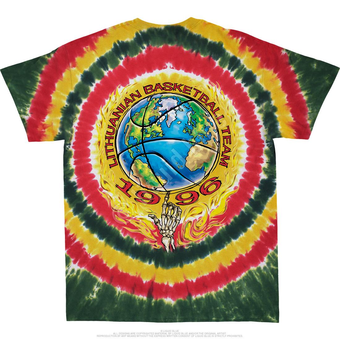 Lithuania Slammin Tie-Dye T-Shirt