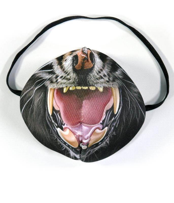 Liquid Blue Tiger Face Face Mask Face Shield