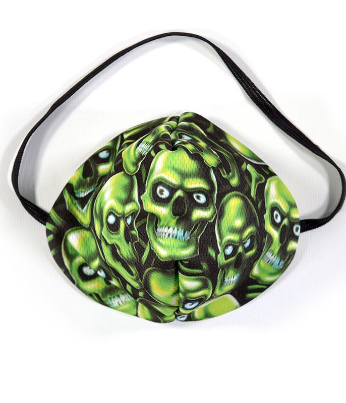 Skull Pile Green Face Mask