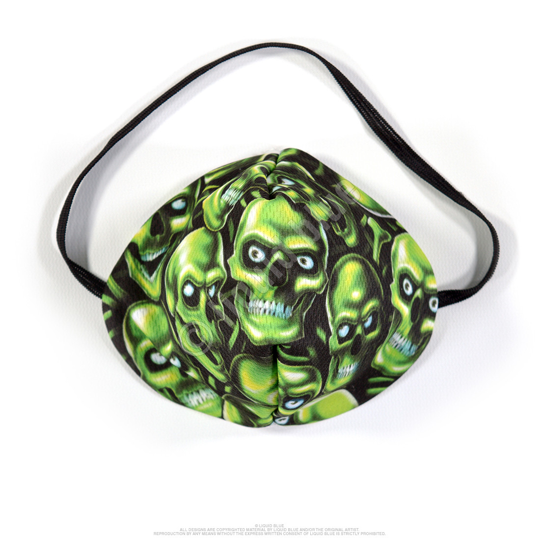 Skull Pile Green Face Mask