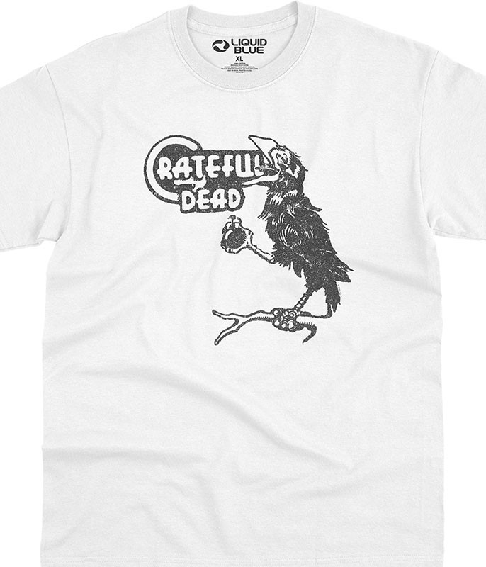 Grateful Dead Bird Song White T-Shirt Tee Liquid Blue